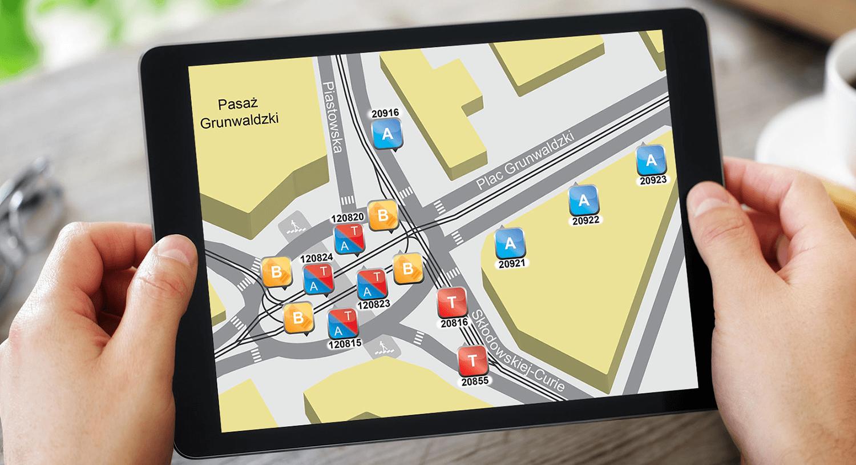 projekty map i schematów wrocław