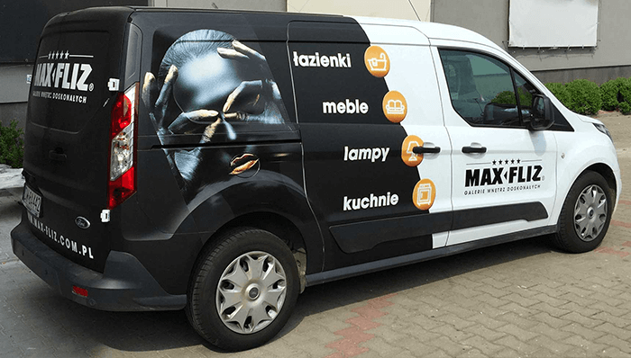 Oklejanie pojazdów Max-Fliz