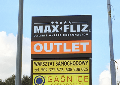 pylon reklamowy max fliz