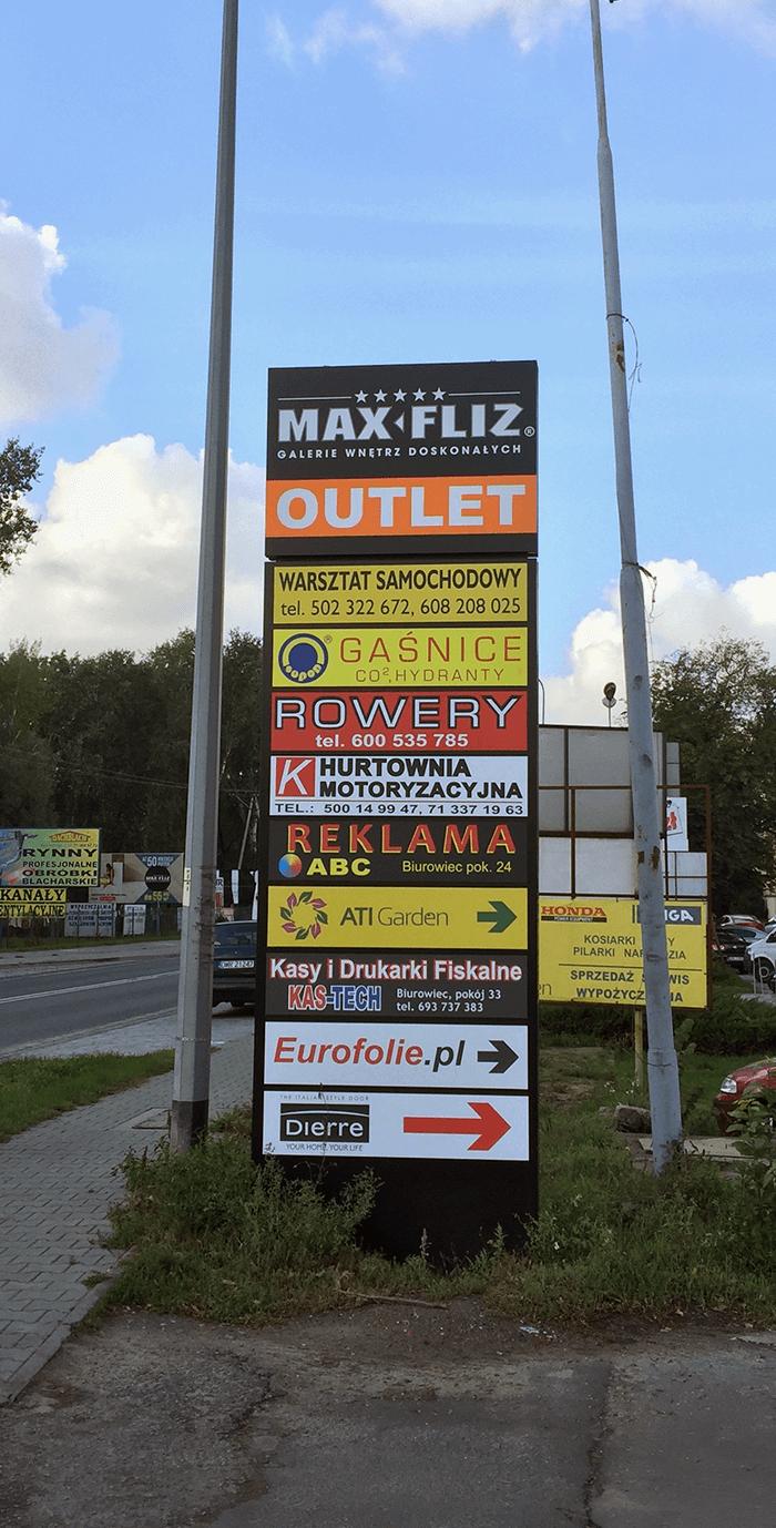 pylony reklamowe projekt i montaż