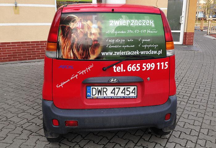 oklejenie auta dla zwierzaczka