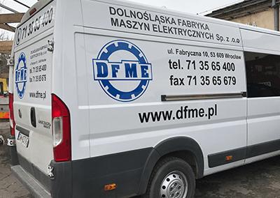Oklejanie pojazdów DFME