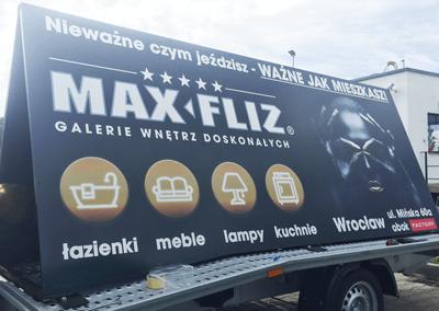 PRZYCZEPA REKLAMOWA DLA MAX-FLIZ