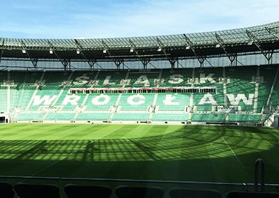 Litery przestrzenne stadion Wrocław