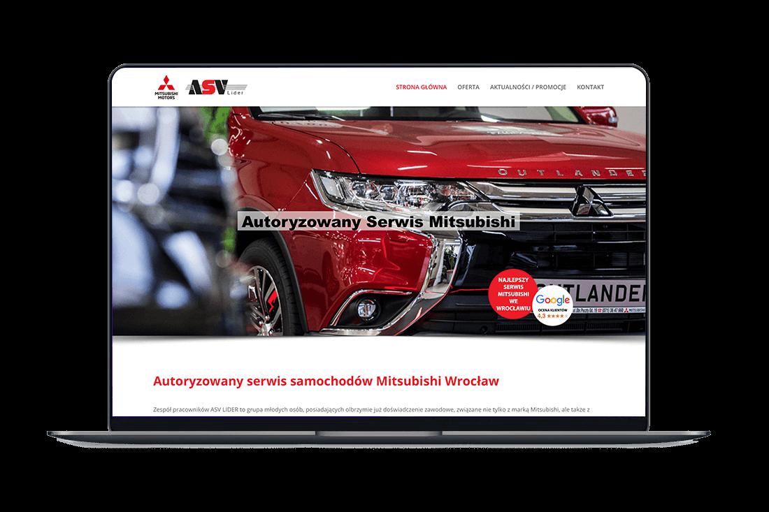 Strona internetowa dla Serwisu Mitsubishi