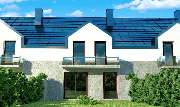 wizualizacja 3d budynku mieszkalnego