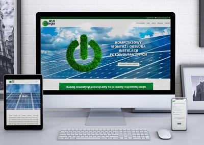 Strona internetowa dla ATUM Energia