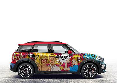 Komiksowe oklejenie samochodu
